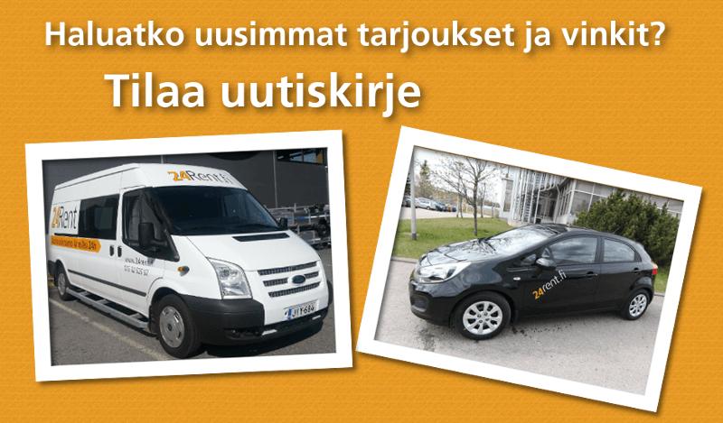 Uutiskirje autovuokraamo alennus tarjous vinkit