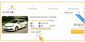 valitse auto www.24rent.fi